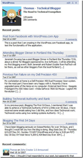 Facebook-ProfileWordPress